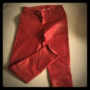 Guess cranberry red jeans